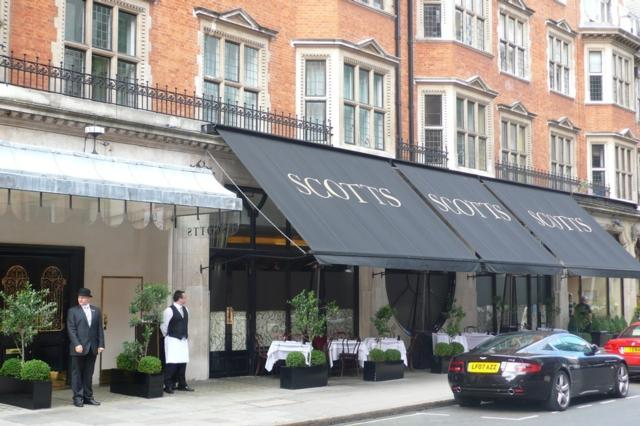 Scott's  one of Innerplace's exclusive restaurants in London
